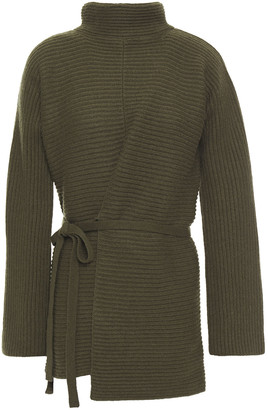 Vince Ribbed Wool And Cashmere-blend Turtleneck Sweater