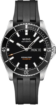 MIDO Ocean Star 200 Automatic Rubber Strap Watch, 42.5mm