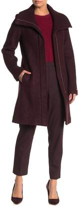 Nine West Zip Front Boucle Coat