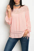 Entro Pink Tunic Blouse
