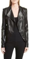 Theory Women's Bristol Peplum Leather Jacket
