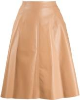 Drome leather A-line skirt