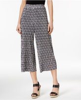 NY Collection Petite Printed Cropped Culotte Pants
