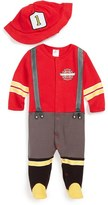 Baby Aspen Infant 'Big Dreamzzz - Firefighter' Footie & Hat