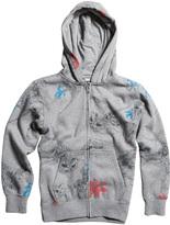 Fox Heather Graphite Dyno-Might Zip-Up Fleece Jacket - Boys