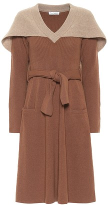 J.W.Anderson Caped wool midi dress