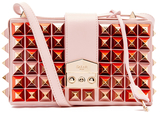SALAR Women's Lou Studs Bag Rosa
