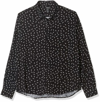 Forever 21 Men's Classic Feather Print Shirt