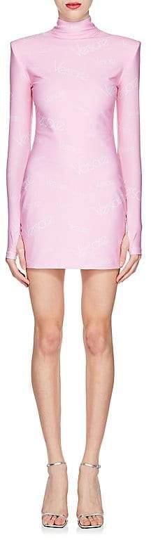 Versace Women's Logo-Print Turtleneck Minidress