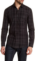 HUGO BOSS Ridley Plaid Long Sleeve Slim Fit Shirt