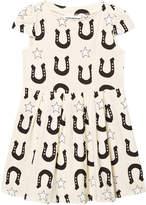 Gardner and The Gang Creme White Stars And Unicorns Swirl Dress