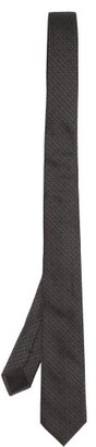 Givenchy Logo-jacquard Silk Tie - Black Grey