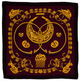 Hermes Les Cavaliers D'Or Shawl