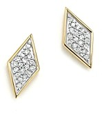 Adina 14K Yellow Gold & Pave Diamond Tiny Stud Earrings