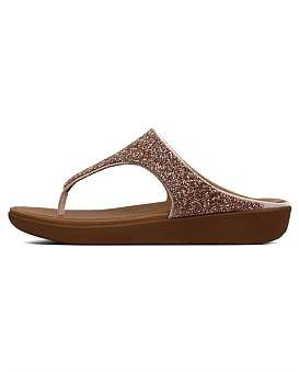 01658148fce7 FitFlop Lumy Leather Slide Silver - ShopStyle Sandals
