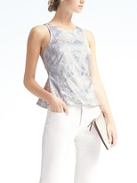Banana Republic Easy Care Sleeveless Peplum Tank