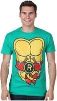 Mighty Fine Teenage Mutant Ninja Turtles Men's Costume T-Shirt (Raphael,)