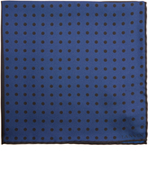 Lanvin Patchwork polka-dot print silk pocket square