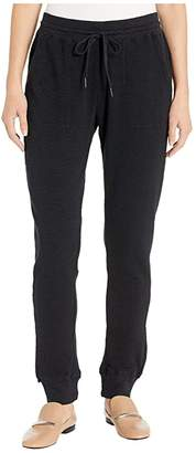 True Grit Dylan By Dylan by Softest Slub Waffle Pants Jogger with Rib Trim (Black) Women's Casual Pants