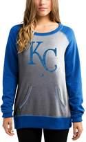Majestic Women's Gray/Royal Kansas City Royals Everything & More Pullover Sweatshirt