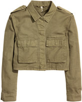 H&M Short Cargo Jacket - Khaki green - Ladies