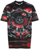 Givenchy fighter jet printed t-shirt