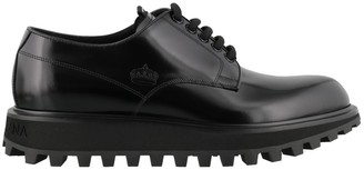 Dolce & Gabbana Logo Embossed Derby Shoes