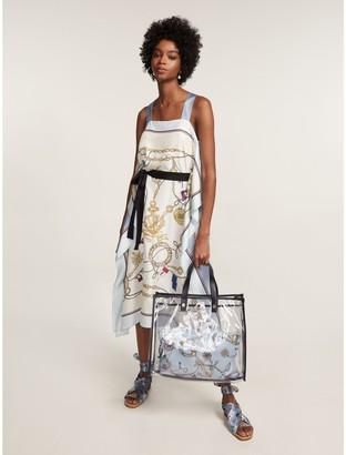 Tommy Hilfiger Pure Silk Nautical Print Midi Dress