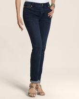 Chico's So Slimming By Equinox Wash Zip Detail Ankle Jean