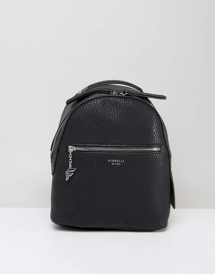 Fiorelli Mini Anouk Black Tumbled Backpack