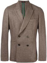 Paul Smith peaked lapel checked blazer