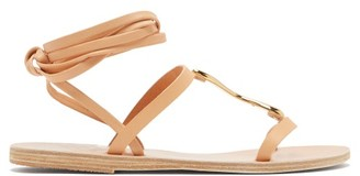Ancient Greek Sandals Nemesis Wraparound Leather Sandals - Tan Gold