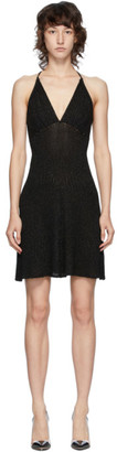 MSGM Black Lurex Short Dress
