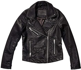 Blank NYC Kids Vegan Leather Moto Jacket (Big Kids) (Bare Minimum) Girl's Coat