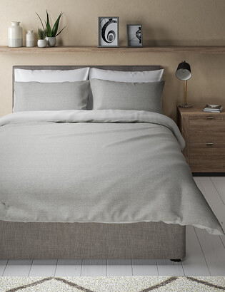 Marks and Spencer Cotton Rich Waffle Bedding Set