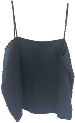 Les Prairies de Paris Black Cotton Top for Women
