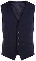 Jaeger Wool Regular Fit Waistcoat, Navy