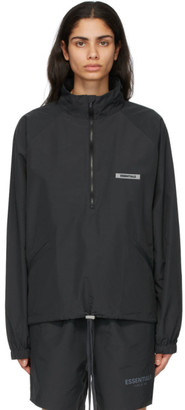 Essentials Black Half-Zip Track Jacket
