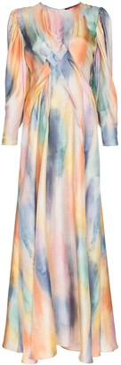Sies Marjan Virginia silk draped maxi dress