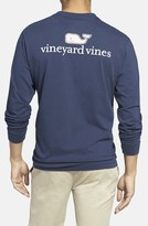 Vineyard Vines Men's Logo Pocket Long Sleeve Crewneck T-Shirt