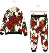 Dolce & Gabbana Girls' Rose Print Track Suit