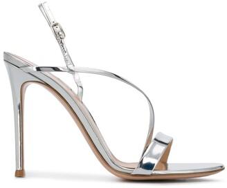 Gianvito Rossi Metallic Strap Sandals