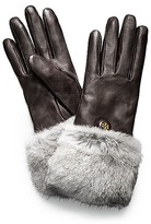 Fur Button Glove