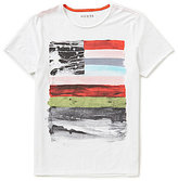 GUESS Flag Americana Short-Sleeve Crew Neck Graphic Tee