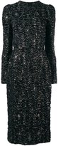 Dolce & Gabbana frayed effect midi dress - women - Silk/Polyamide/Polyester/Acetate - 42