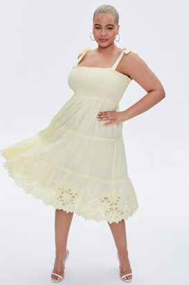 Forever 21 Plus Size Smocked Tie-Strap Dress