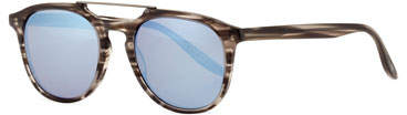 Barton Perreira Men's Rainey Rectangular Top-Bar Sunglasses, Gray/Blue