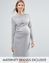 Bluebelle Maternity Slinky Knot Front Dress