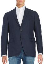 Black Brown 1826 Slim Fit Textured Blazer