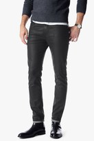 7 For All Mankind The Paxtyn Skinny In Coated Matte Black